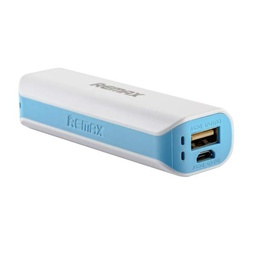 [007508] Powerbank (18650) Remax Mini White RPL-3, 1xUSB, 5V, 1A, 2600mAh, White, Blister [Mini White]