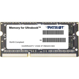 [010015] Оперативная память SO-DIMM 4GB/1600 DDR3 1.35В Patriot Signature Line [PSD34G1600L2S]